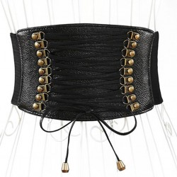 La ceinture corset taille haute simili cuir