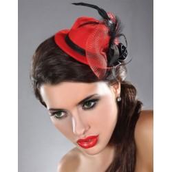 Le chapeau Laetitia rouge et noir