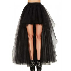 La jupe en voile high low noir