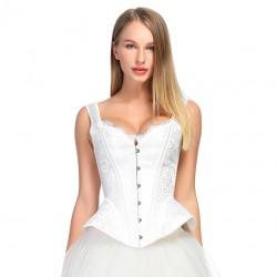 Le débardeur corset blanc glacé