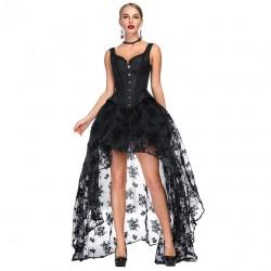 Le débardeur style corset lolita noir