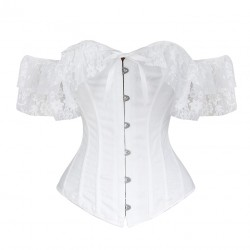 Le corset en dentelle blanc Irina