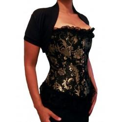 Le corset victorien noir et or