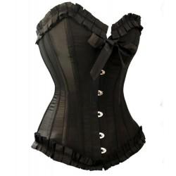 Le corset taffetas noir