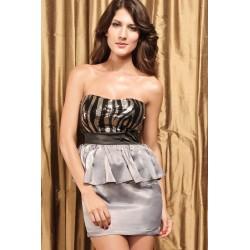 La mini robe ou tunique en satin zébrée