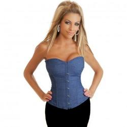 Le corset bleu jean
