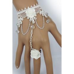 Bijou de main blanc