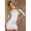 La robe en dentelle blanche Prisca