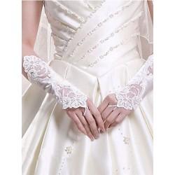 Gants de cérémonie sans doigts blancs