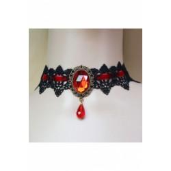 Le ras de cou gothika noir et rouge