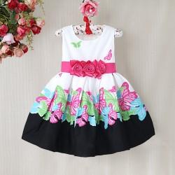 La robe fleurs et papillons noire