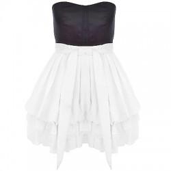 La robe en coton vintage noire et blanche