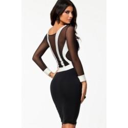 La robe bi-matière deux tons