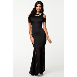 La robe longue noire lolita