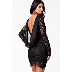 La robe crochet noire