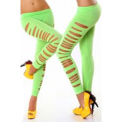 Le legging vert fluo ouvert côté
