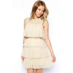La robe en tulle crème