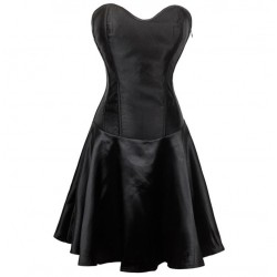La robe corset en satin noire