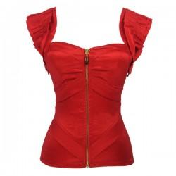 Le bustier lolita taffetas rouge