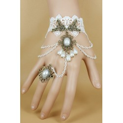 Bijou de main gothique lolita blanc