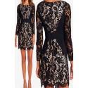 La robe crochet noir/nude Odessa