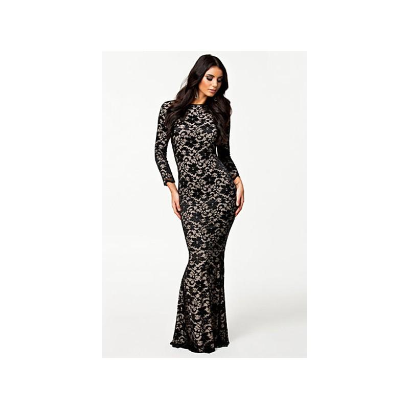 La robe nude manches longues noire ou blanche sur Bustiers