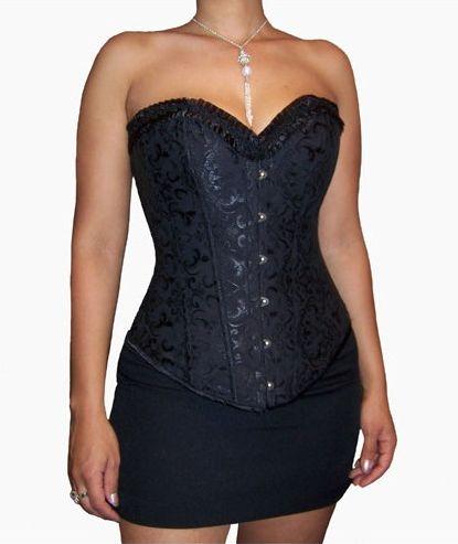 corset noir de soirée ou cérémonie