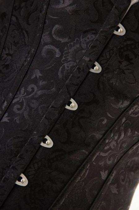 corset noir brodé pour soirée